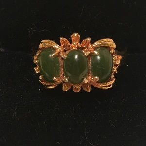 Vintage Faux Jade Ring